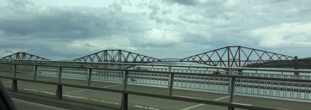 Forth Road Bridge.
