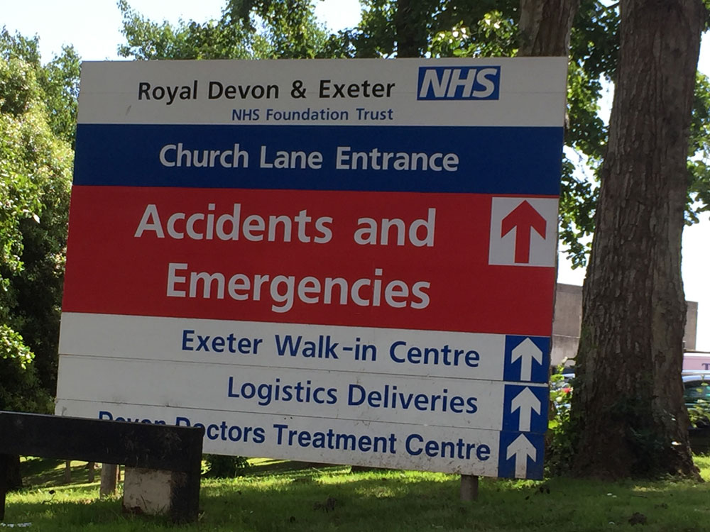 Royal Devon & Exeter Hospital.